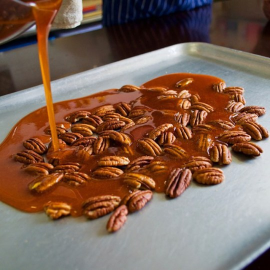 making-praline